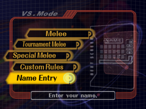 The Name Entry item